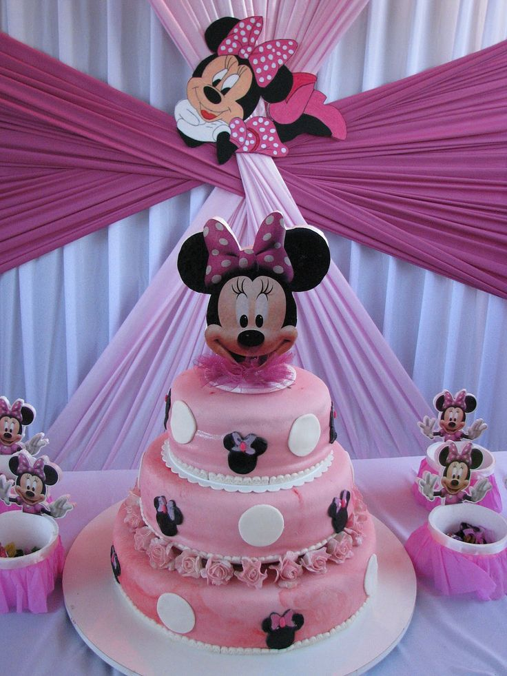 minnie mouse cake topper birthday party by birthdayparty2 on Etsy, $12.99