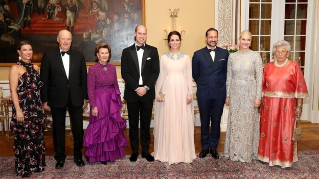 Prince William and Kate group photo with Norwegian royalty