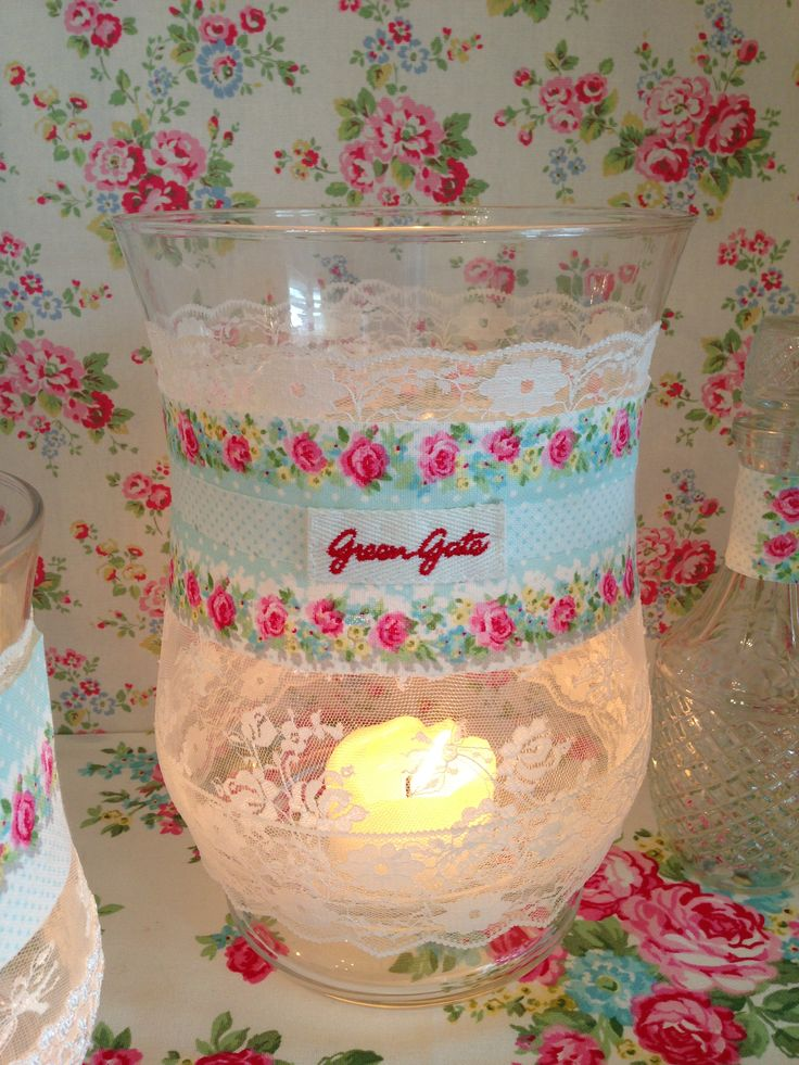 Greengate and lace lantern www.thevintageroom.info