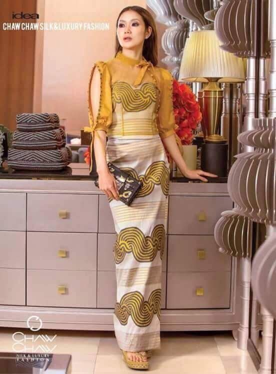 Pin by Rainy Phulay on Myanmar Dress Collection ...