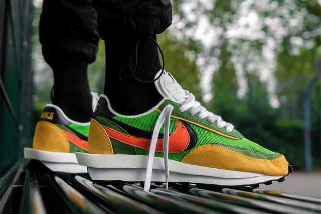 Nike X Sacai Ldv Waffle Green Gusto Nike Waffle Sacai Green And Orange