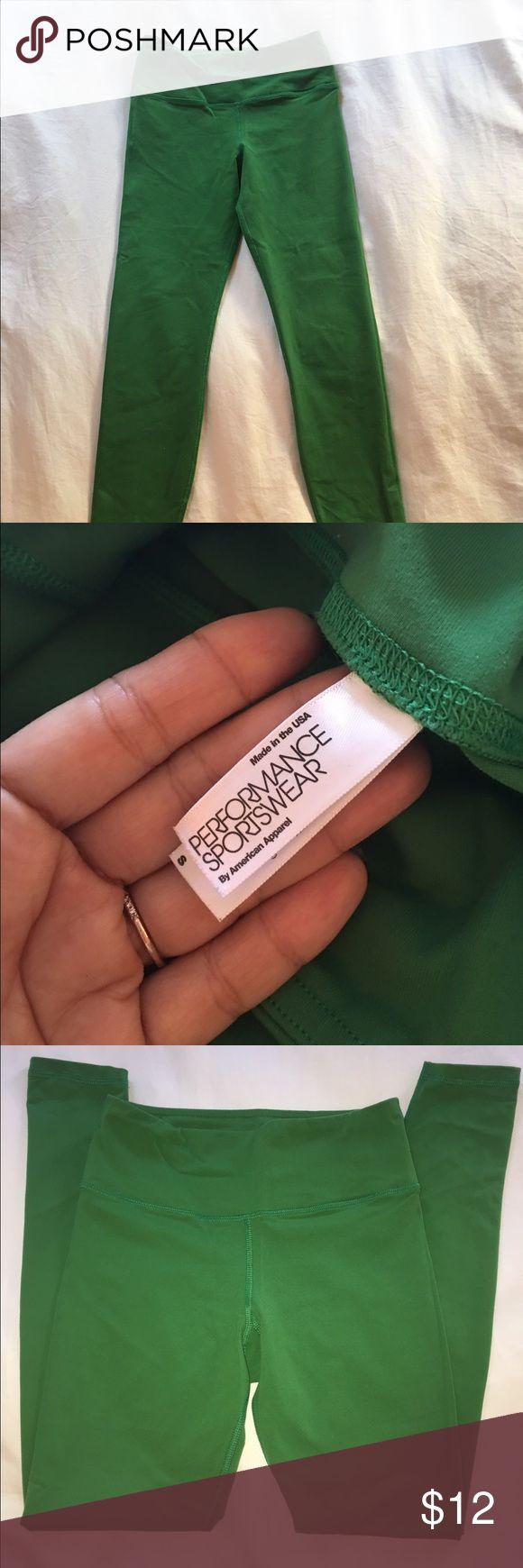American Apparel full length Yoga Pants Never been worn Yoga pants in emerald green. Full length American Apparel Pants Leggings