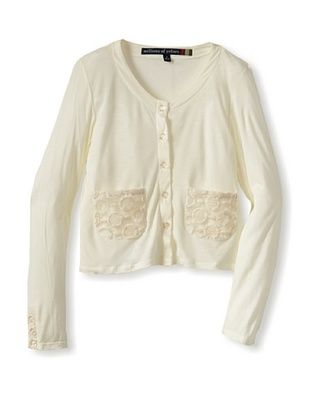 71% OFF Millions Of Colors Girl's Pocket Cardigan (Soft White)