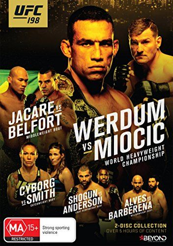 UFC 198: Werdum vs Miocic:   <B>MAY 14, 2016--CURITIBA, BRAZIL:</B><BR>Fabricio Werdum cemented himself as one of the greatest fighters of all time when he submitted Cain Velasquez in 2015 to earn the title of undisputed heavyweight champion. Now he must defend that belt in a home-turf bout against No. 2-ranked Stipe Miocic, who is fresh off back-to-back knockouts of Mark Hunt and Andrei Arlovski. Plus, it's an all-Brazilian showdown in the middleweight division, as former world champi...