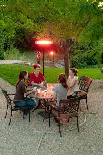 E Joy Remote Control LED Carbon Infrared Indoor/Outdoor Patio Heater, 3  Level Heat Adjust Indoor Space Heater