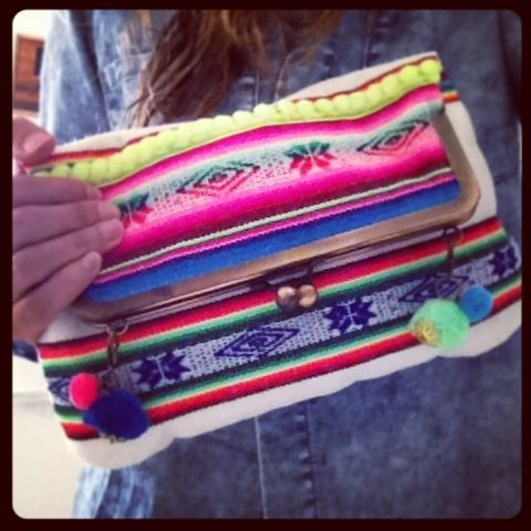 Love this colorful foldover clutch! so much fun!