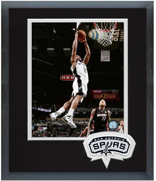 Kawhi Leonard Spurs Game 5 of the 2014 NBA Finals - 11 x 14 Matted/Framed Photo