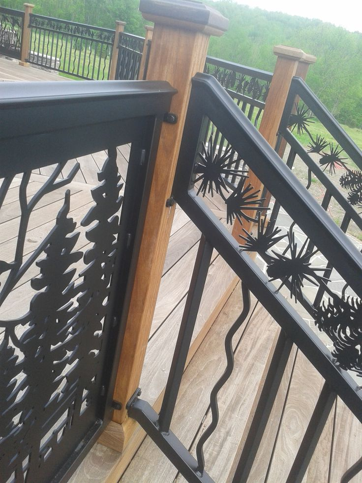 Best 25 deck stair railing ideas on pinterest outdoor for Garden decking banister