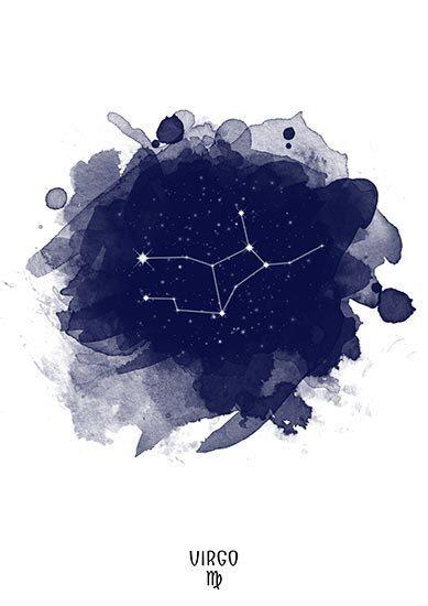 Virgo Constellation Virgo zodiac Zodiac by TelleQuelle on Etsy