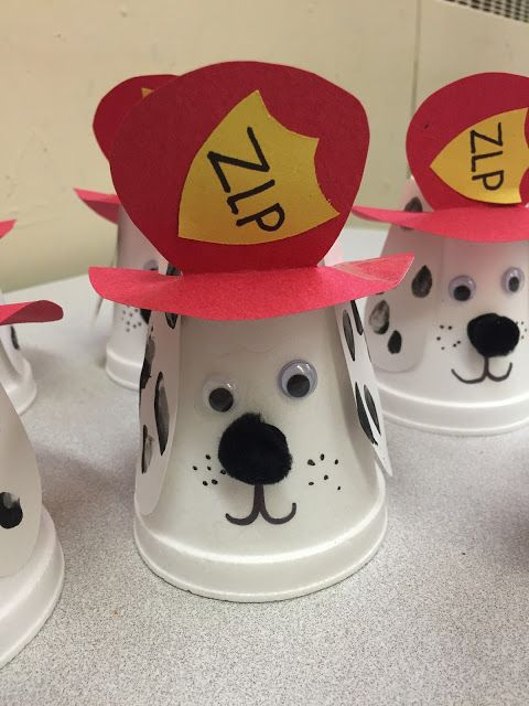 fire safety craft- fire dog - Terrific Preschool Years