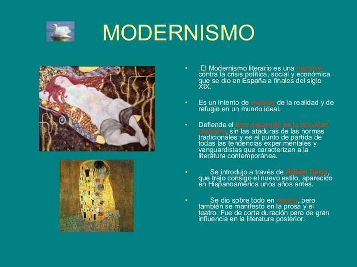 Un SlideShare acerca del modernismo. (A partir de la diapositiva 17 empiezan las vanguardias).