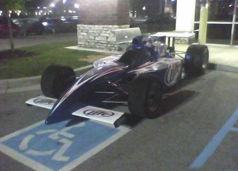 Ron Artest In A Formula Race Car
