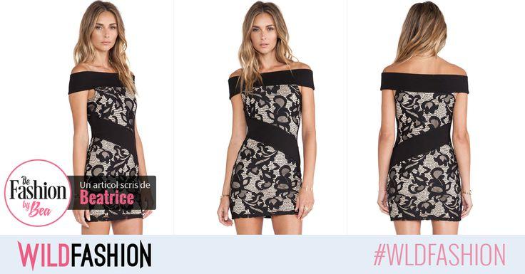 Adopta un look clasic si feminin care sa atraga toate privirile! Ce ziceti de aceasta rochie?