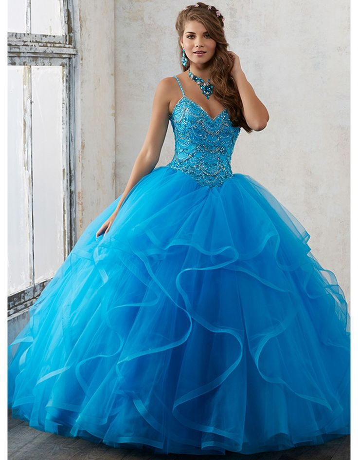 Cheap dresses dress up, Buy Quality dress fishtail directly from China dresses for larger ladies Suppliers: New Blue 2017 Ball Gown Quinceanera Dresses Spaghetti Strap Sweet 16 Year Princess Dresses For 15 Years Vestidos De 15 Anos