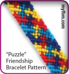 Puzzle Friendship Bracelet Pattern