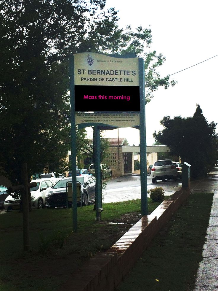 St Bernadettes Parish #CSI #Led #signage