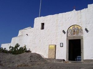 Holy Grotto of the Revelation in Patmos, Greece. Find out more about the place where John wrote the book of Revelations here: http://thecompletepilgrim.com/holy-grotto-revelation/