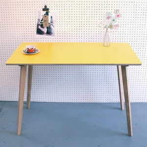 Perky Yellow Formica Table / Desk
