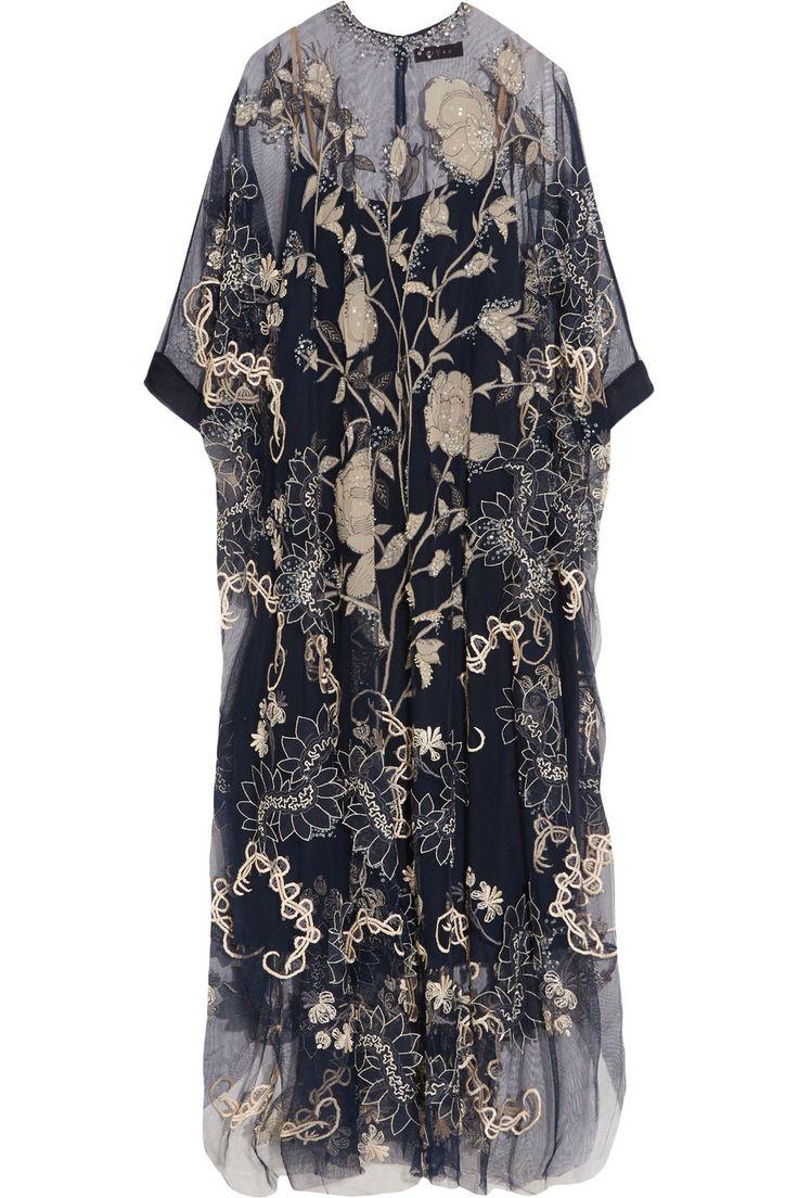Biyan Assad embellished embroidered tulle dress