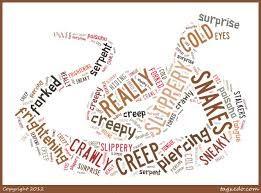 Snake visual poem.