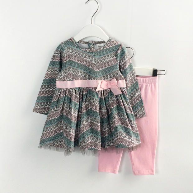 Осень девушки одежда новорожденный из одежды костюм, С длинным рукавом + брюки 2 шт. комплект одежды детской одежды павлин шаблон купить на AliExpress