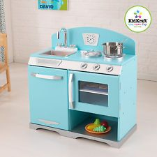 Blue Wooden Play Kitchen best 10+ kids wooden play kitchen ideas on pinterest | kids wooden