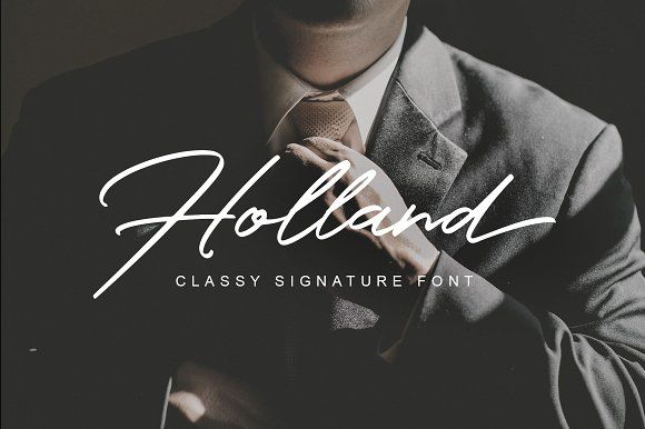 Holland Font by Lettersiro on @creativemarket
