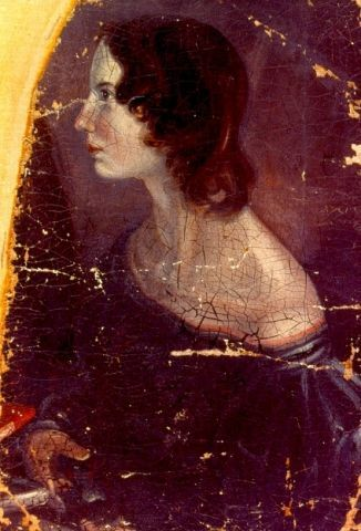 Emily Brontë, author of classic novel Wuthering Heights was born on this day in 1818.    Portrait of Emily Brontë by her brother, Branwell. Public Domain image.