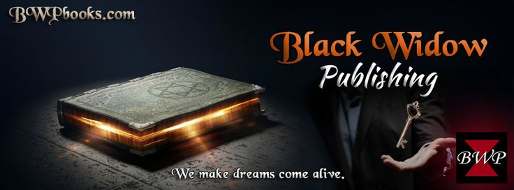 Black Widow Publishing. Facebook banner with magical key. Publisher. Self publishing Services. We make dreams come alive!  Kill your competition with Black Widow Publishing!