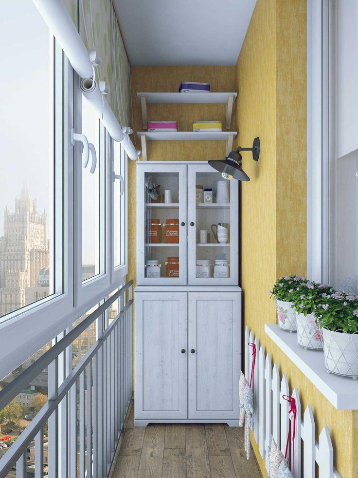 Хранить соленья на балконе можно красиво.