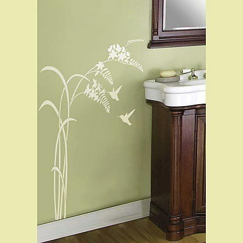 25 best butterfly stencils images on pinterest for Bathroom ideas 5x12