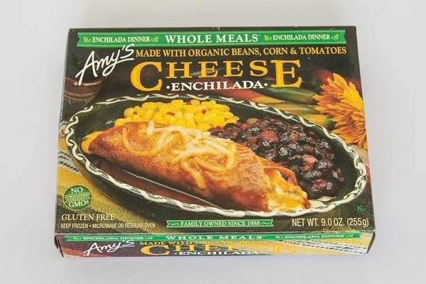 {Amy's Cheese Enchilada} - {Best Frozen Meals for Weight Loss} - #ReImagineDieting Sign up for more weight loss ideas like this at fullplateliving.org