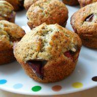 2 švestkové muffiny s mákem