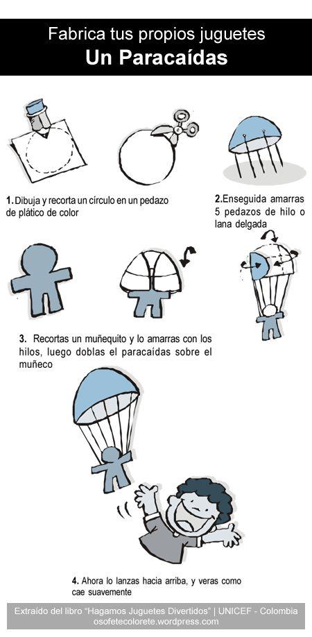 Fabrica tus propios juguetes: Un Paracaídas   Osofete Colorete