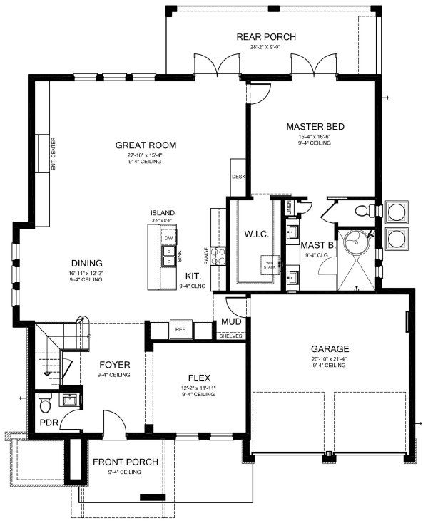 Plan No 820123 House Plans By Westhomeplanners Com Modern Floor Plans Modern Style House Plans House Plans