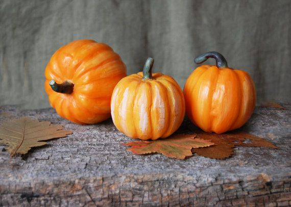 Halloween Candle Pumpkin Handcarved Handmade Candle by LessCandles, $7.00