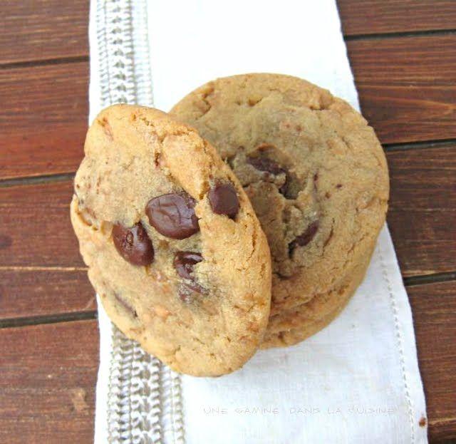 une gamine dans la cuisine: Toffee Chocolate Chip Cookies