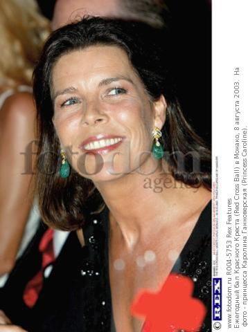 Ежегодный бал Красного Креста (Red Cross Ball) в Монако, 8 августа 2003.  На фото - принцесса Каролина Ганноверская (Princess Caroline).