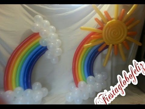 Balloon Rainbow, Decoration, Birthday, Ballon Regenbogen, Dekoration, Geburtstag - YouTube