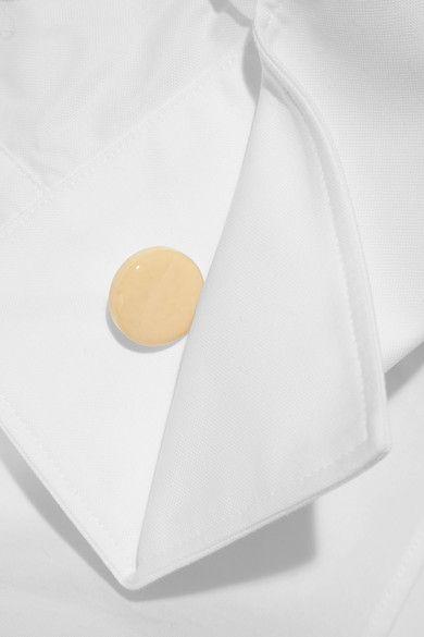 Jacquemus - Off-the-shoulder Cotton-piqué Shirt - Off-white - FR36