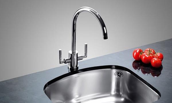 Single basin sink with no draining board