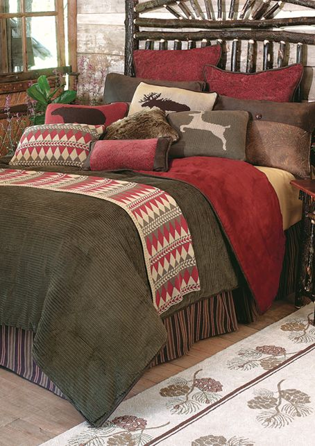 Wilderness Lodge Log Cabin Bedding @Lauren Christopher   You Can Do This  With What You
