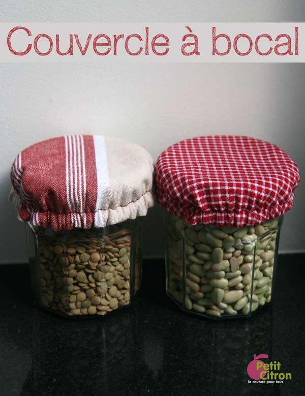 DIY : des couvercles réversibles pour vos bocaux et saladiers | tutoriels de couture | Blog de Petit Citron