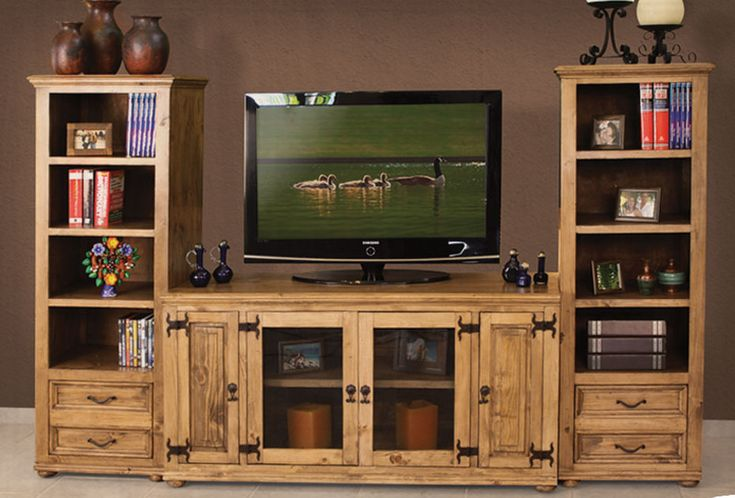 Laredo Rustic Entertainment Media Center