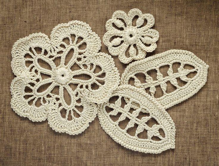 Outstanding Crochet: Blouse with irish Crochet Embellishment. Pattern.