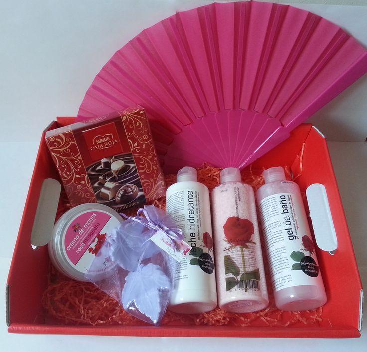 Esta es la cestita rosa, ideal para el día de la madre