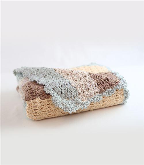 Bebek Battaniyesi Örgü Çizgili Model