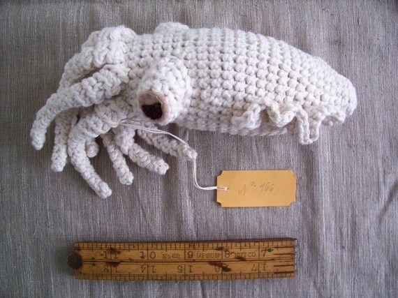 Crocheted cuttlefish