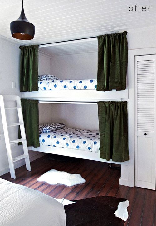 Diy Built In Bunk Bed Curtains Great Way To Have Privacy