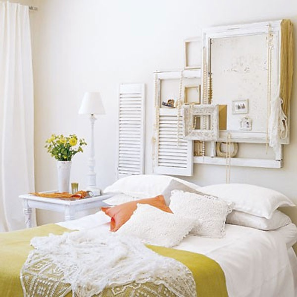Love The Window Frames And Shutters Behind The Bed Modern Vintage Bedroom Decorating Ideas Modern Vintage Bedroom Decor Home Design Ideas